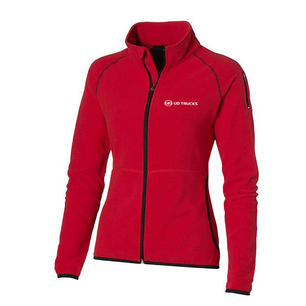 UD Ladies Red Micro Fleece Jkt